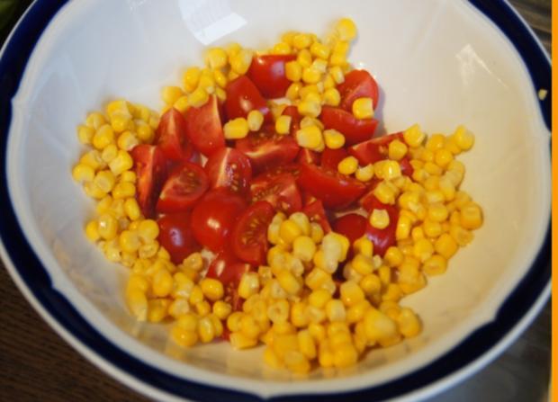 Gemischter Salat mit Soja-Essig-Dressing und Party Garnelen - Rezept - Bild Nr. 2114