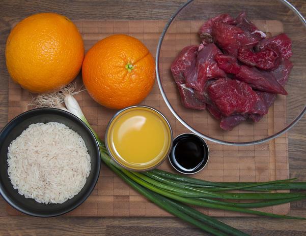 Asiatisches Rindfleisch mit Orange - Rezept - Bild Nr. 2105