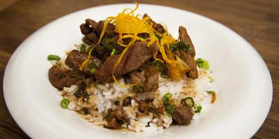 Rezept: Asiatisches Rindfleisch mit Orange