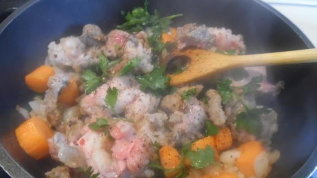Lammkeule in Honig-Knoblauchsoße mit Paprika-Gemüse - Rezept - Bild Nr. 2132