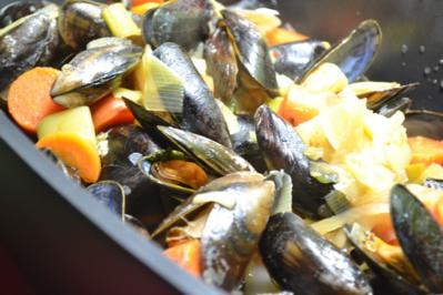 Rezept: Fisch / Meeresfrüchte = Miesmuscheln heute mal anders eben à la Biggi