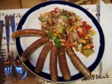 Nürnberger Rostbratwürstchen mit gemischten Salat - Rezept - Bild Nr. 2
