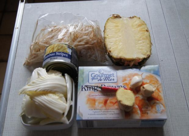 Garnelen-Gemüse-Wok süß-sauer mit Curry Basmati Reis - Rezept - Bild Nr. 2167