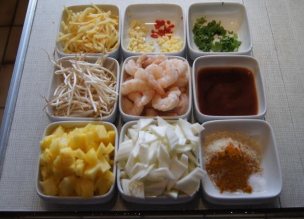 Garnelen-Gemüse-Wok süß-sauer mit Curry Basmati Reis - Rezept - Bild Nr. 2168