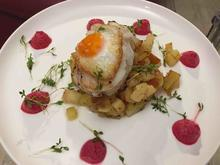 Labskaus: Rote-Bete-Mousse, Apfel-Bratkartoffeln, Wachtelspiegelei & Seeteufel-Steak - Rezept - Bild Nr. 2166