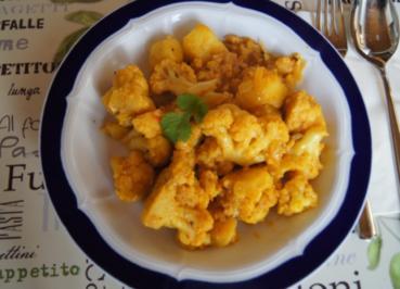 Curry-Blumenkohl-Pellkartoffel-Wok - Rezept - Bild Nr. 2166