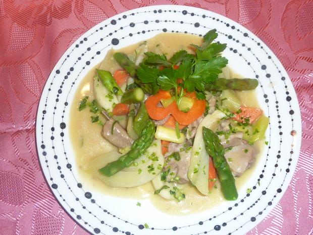 Weisses Lammvoressen mit Gemüse - Rezept - Bild Nr. 2178