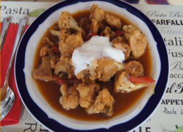 Rotes Blumenkohl-Curry im Wok - Rezept - Bild Nr. 2177