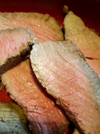 """Fleisch / Rind = Rinderbraten """"zartrosa""""  und rückwärts gegart à la Biggi - Rezept - Bild Nr. 2189"""