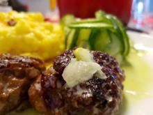 Fleisch / Rind = Frikadelle mit herzhaftem Kartoffelstampf à la Biggi - Rezept - Bild Nr. 2193