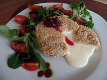 Knusper-Camembert mit Tomaten-Feldsalat - Rezept - Bild Nr. 2184
