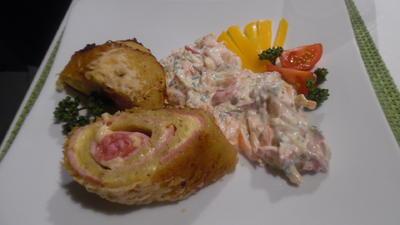 Rösti-Roulade mit Rohkost-Joghurt-Salat - Rezept - Bild Nr. 2201