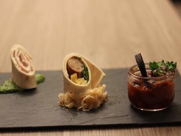 Hessisches Sushi mit Blutwurst-Kichererbsen-Ragout - Rezept - Bild Nr. 2