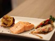 Lachs im Heubett mit Kartoffelrose und Honig-Senf-Dill-Sauce - Rezept - Bild Nr. 2201