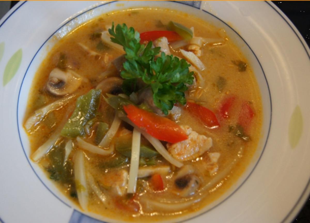 Kokossuppe Tom Kha Gai - Rezept von MausVoh