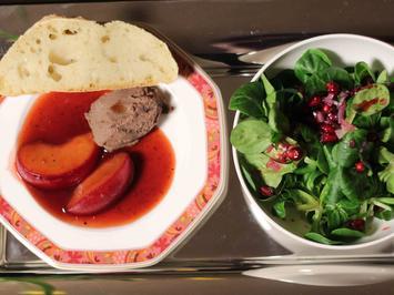 Geflügelleber-Parfait mit in Portwein geschmorten Pflaumen - Rezept - Bild Nr. 2