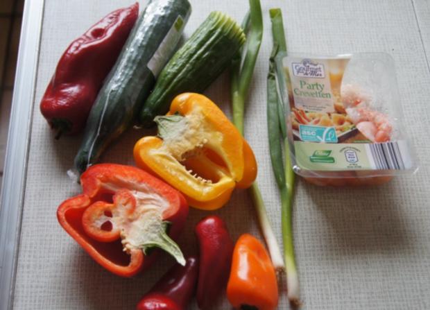 Bunter Gemüseteller mit Party Crevetten - Rezept - Bild Nr. 3