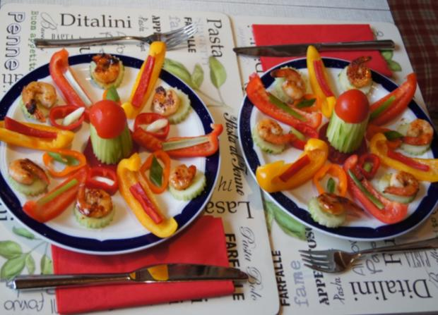 Bunter Gemüseteller mit Party Crevetten - Rezept - Bild Nr. 6