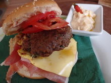 Sesam-Schinken-Burger - Rezept - Bild Nr. 2219