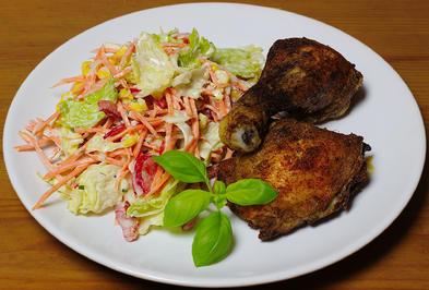 Rohkostsalat mit Mais - Art Caesar´s salad - Rezept - Bild Nr. 2