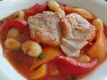 Paprika-Gnocchi mit Kabeljau - Rezept - Bild Nr. 2221