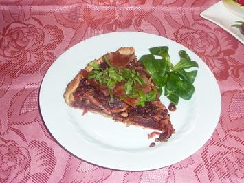 Rote Bete Kuchen mit Speck - Rezept - Bild Nr. 2237