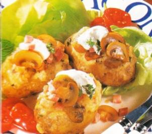 Ofenkartoffeln mit Schinken Pilz Soße - Rezept