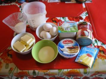 Quarkkuchen mit Lychees - Rezept - Bild Nr. 2254