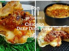 DEEP  DISH PIZZA;  Chicago GreatLakes World of Pizza Koop. - Rezept - Bild Nr. 2288