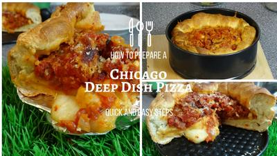 Rezept: DEEP  DISH PIZZA;  Chicago GreatLakes World of Pizza Koop.