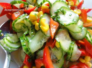 Salatbar:   PAPRIKA ~ GURKE ~ MAIS - Rezept - Bild Nr. 2