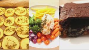 Herzhafte Kartoffeln, Ofengemüse mit Hähnchen und Kekskuchen - Rezept - Bild Nr. 2329
