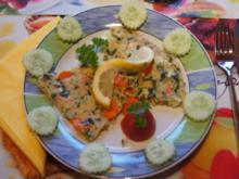 Koriander-Möhren-Zwiebel-Omelett - Rezept - Bild Nr. 2333