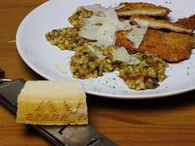 Graupen-Champignon-Tomatenrisotto mit zarten Knusperschnitzel - Rezept - Bild Nr. 2335