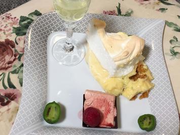 Key-West-Lime-Pie und Himbeerparfait im Schokoschiffchen - Rezept - Bild Nr. 2