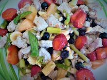 Spargelsalat mit gebratenem Schnitzelfleisch und Früchteallerlei á la Britta - Rezept - Bild Nr. 2370