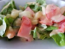 Gemischter Salat mit gekochter Eidotter Cremsosse - Rezept - Bild Nr. 2366