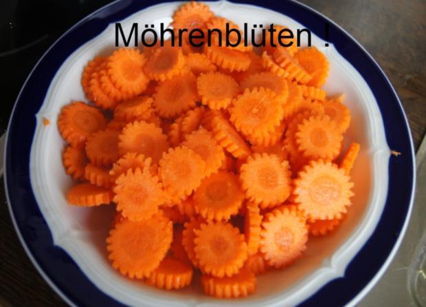 Pazifisches Schollen-Filet mit Rosinen-Möhrenblüten - Rezept - Bild Nr. 2382