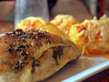 Pikante Hähnchenkeule mit scharfen Fächerkartoffeln - Rezept - Bild Nr. 2