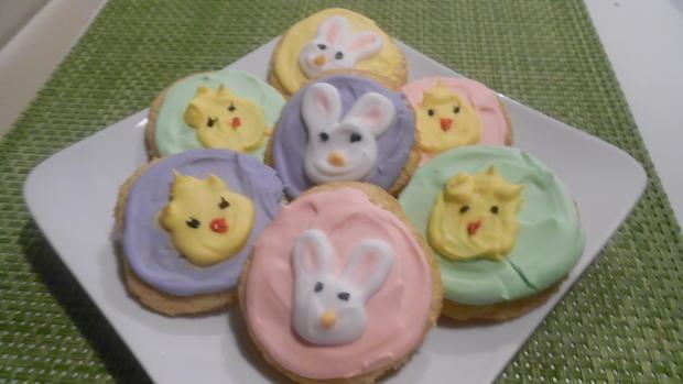 Ingwer-Kekse (Ginger-Biscuits) mit Oster-Deko - Rezept - Bild Nr. 2401