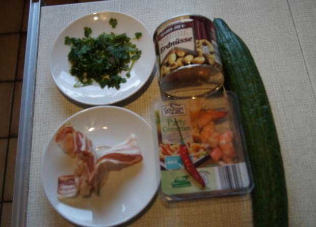 Thailändischer Gurkensalat mit Garnelen - Rezept - Bild Nr. 2432