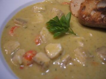 Suppen: Gemüsecreme mit Forelle und Flusskrebs - Rezept - Bild Nr. 2453