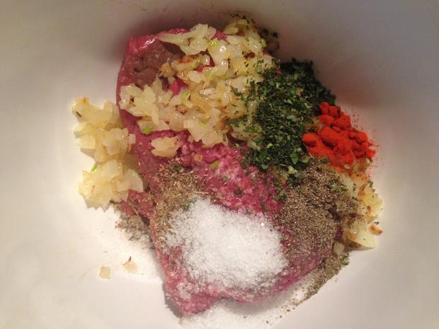 Buletten mit Paprikareis und fruchtiger Currysoße - Rezept - Bild Nr. 2461