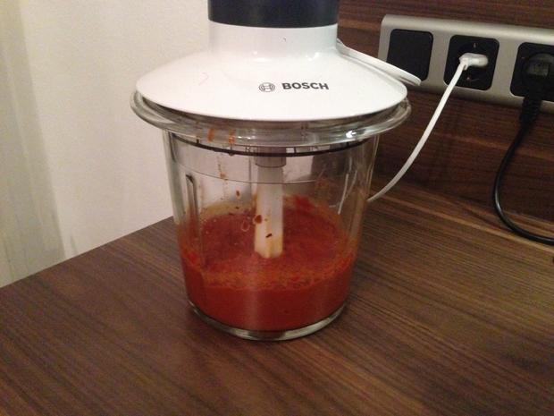 Buletten mit Paprikareis und fruchtiger Currysoße - Rezept - Bild Nr. 2471