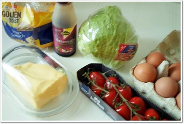 Glücksbringer – Golden Toast mit Eisbergsalat, Eiern und Marienkäfer - Rezept - Bild Nr. 2446