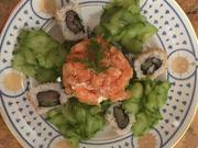 Lachstatar mit Avocadocreme und Thunfisch Sushi - Rezept - Bild Nr. 2