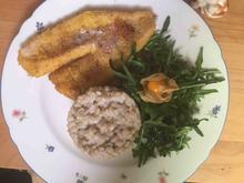Schweriner Seefisch gebraten an Graupenrisotto mit Saisonsalat - Rezept - Bild Nr. 2