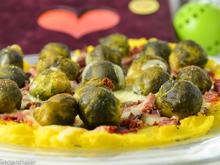 Maispizza mit Rosehkohl und Bundschinken - Rezept - Bild Nr. 2