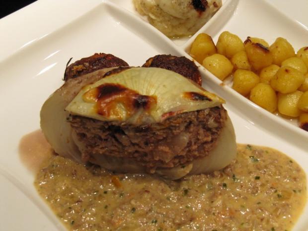 Metzgerzwiebel gefüllt mit Rinderhack - Rezept - Bild Nr. 2482