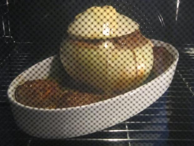 Metzgerzwiebel gefüllt mit Rinderhack - Rezept - Bild Nr. 2485